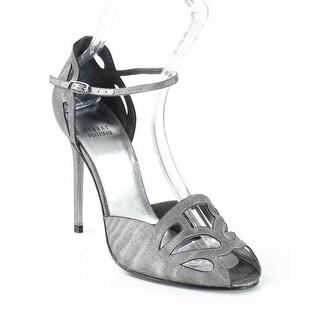 Stuart Weitzman NEW Gray Thrill Shoes Size 11M Open Toe Heels