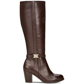 Giani Bernini Womens Raiven2 Leather Closed Toe Knee High Fashion Boots