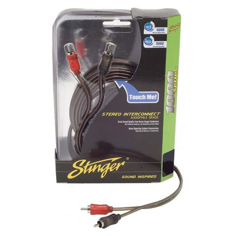 stinger 15ft 1000 series 2ch coaxial rca