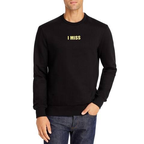 Eleven Paris Mens Nitney Sweatshirt Fleece Comfy - Black - M