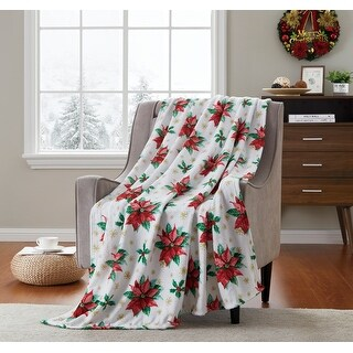 Link to Holiday Poinsettia Fun Printed Plush Throw Similar Items in Blankets & Throws