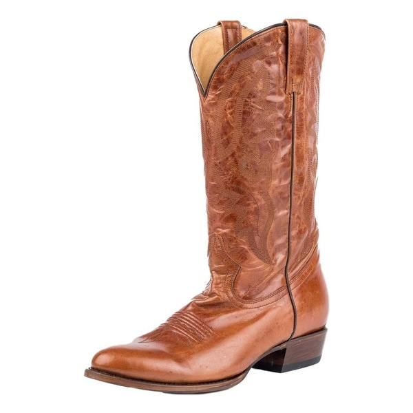 Roper Western Boots Mens Cassidy Leather R Toe Tan