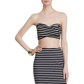 Lucy Paris Womens Bandeau Top Strapless Striped (Option: L)