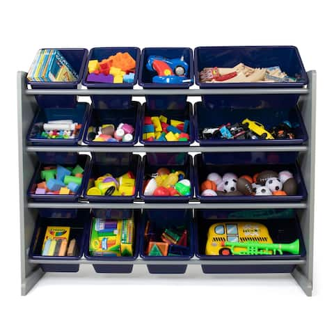 Humble Crew Newport Super Sized Toy Organizer with 16 Storage Bins - Toddler, Pre-school