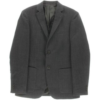 Theory Mens Rodolf PA Wool Textured Two-Button Blazer - 38R
