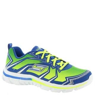 Skechers Litlle Kid Nitrate, Sneaker, Lime/Blue, 10.5 M