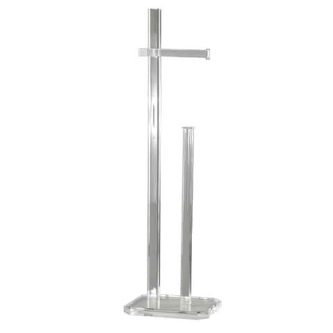 Cortesi Home Lapis Acrylic Toilet Paper Stand - Clear