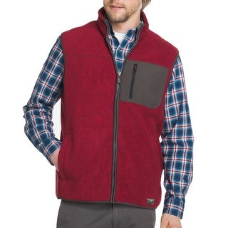 G.H Bass & Co Red Mens Size XL Mock-Neck Vest Full-Zip Jacket