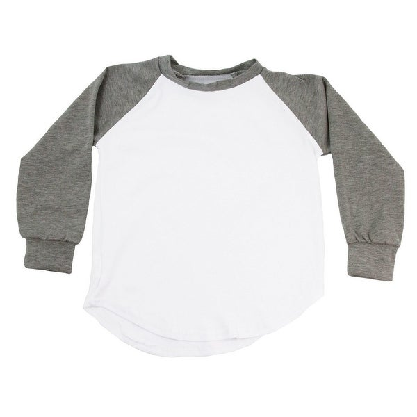 Unisex Baby Gray Two Tone Long Sleeve Raglan Baseball T-Shirt 6-12M