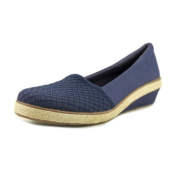 Grasshoppers Petunia Women Round Toe Canvas Blue Loafer