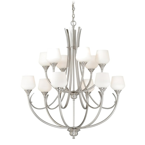 Shop Vaxcel Lighting H0129 Grafton 12 Light Two Tier Chandelier With