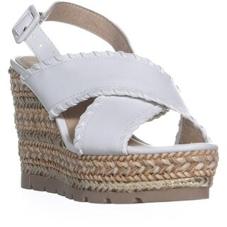 Seven Dials Alessandra Criss Cross Wedge Sandals, White