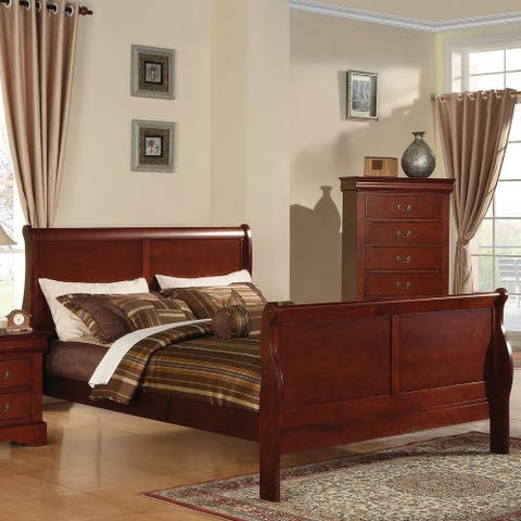 Louis Philippe III Cherry Wood Bed