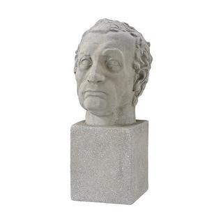 GuildMaster 326-8714  Consularis Composite Head Statue - Aged Stone