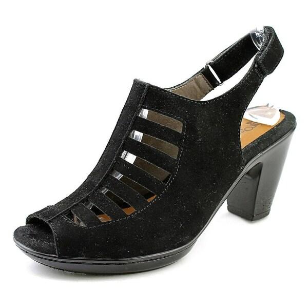 Eurosoft by Sofft Vesta Women Open Toe Suede Black Sandals