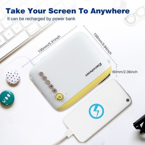 Shop Excelvan YG200 Mini Multimedia Projector TF card AV USB