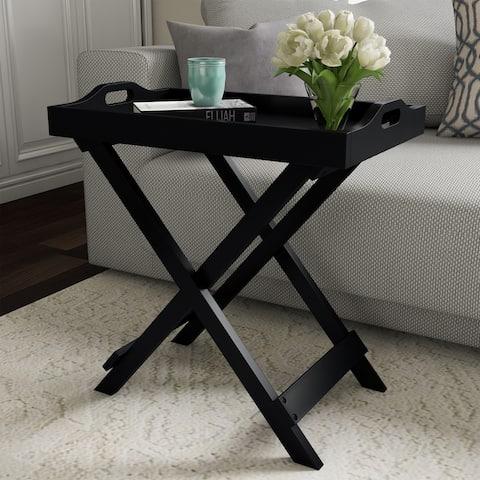 Carson Carrington Cullyhanna Wooden Contemporary Display Table - 22 x 12.5 x 23 - 22 x 12.5 x 23