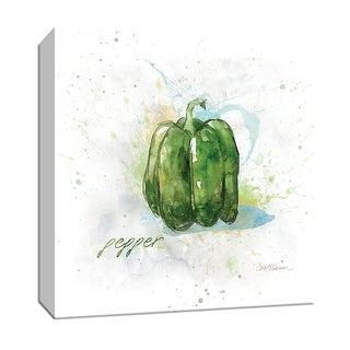"PTM Images 9-147152  PTM Canvas Collection 12"" x 12"" - ""Veggie Pepper"" Giclee Fruits & Vegetables Art Print on Canvas"