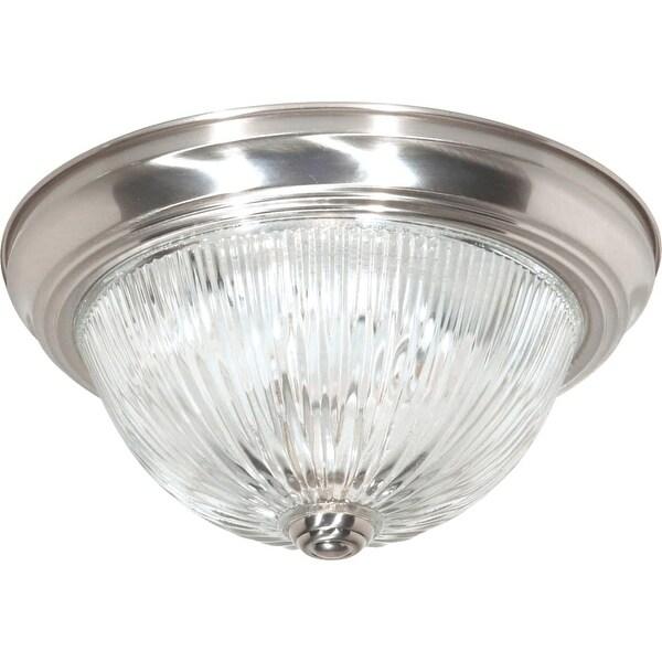 "Nuvo Lighting 76/609 2 Light 11-3/8"" Wide Flush Mount Bowl Ceiling Fixture - Brushed nickel"