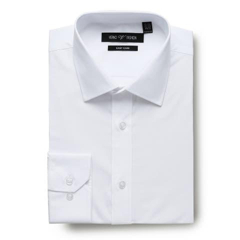 Men's Dress Shirts Easy Care Regular Fit 100% Cotton Solid Men Shirt