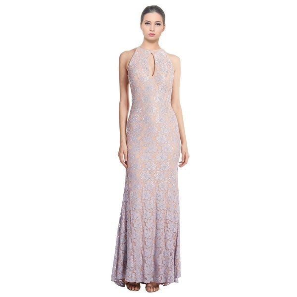Jovani Glamorous Lace Keyhole Allover Beaded Dress Gown - 2