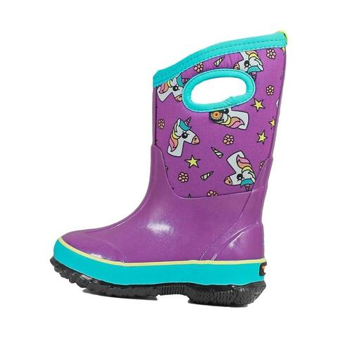 Bogs Outdoor Boots Girls Classic DAB Unicorns Waterproof