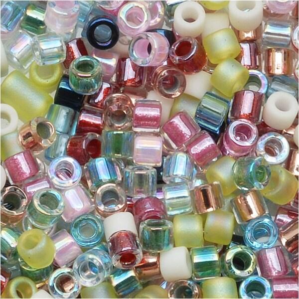 Miyuki Delica Seed Beads Mix Lot 11/0 Spring Flower Pastel 7.2 Grams