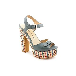Chinese Laundry Pacific Women Open Toe Leather Blue Platform Sandal