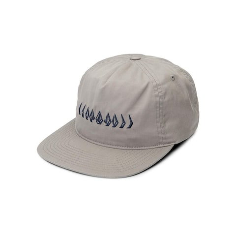 Volcom Men's Stone Cycle Adjustable Hat, Grey, One Size, Grey, Size One Size - One Size