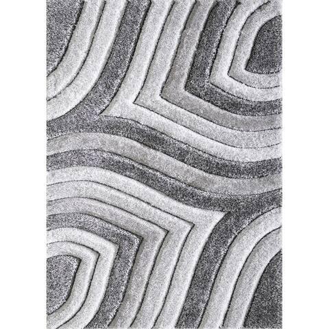 Colima Grey Textured Area Rug
