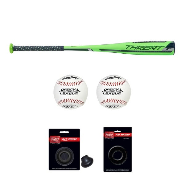 "Rawlings 2019 Threat USA Baseball Bat (28""/16oz) with Accessory Bundle. Opens flyout."