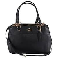 Coach Women's F25395 Black Leather Mini Brooke Crossbody Purse Bag
