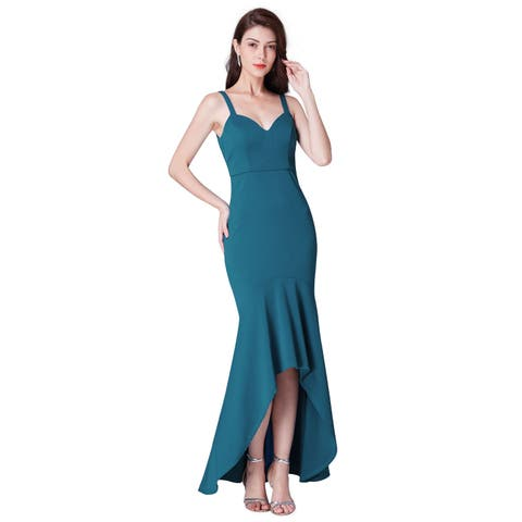 39fdc25fd728 Ever-Pretty Spaghetti Straps V Neck High-Low Cocktail Party Dress 07374
