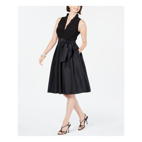 JESSICA HOWARD Black Sleeveless Above The Knee Dress 10