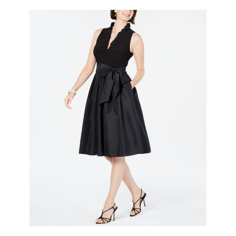 JESSICA HOWARD Black Sleeveless Above The Knee Dress 12