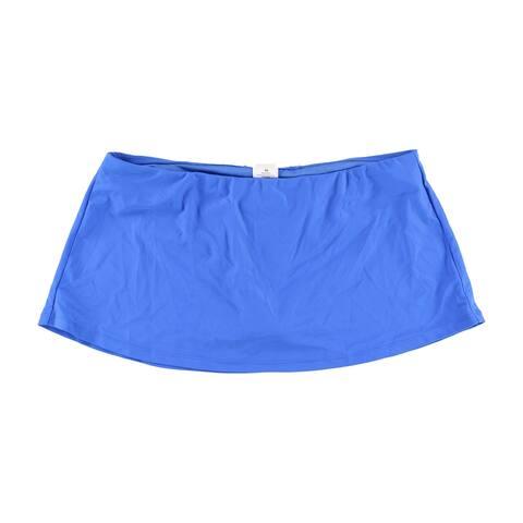 Island Escape Womens Skirtini Skirt Swim Bottom, Blue, 8