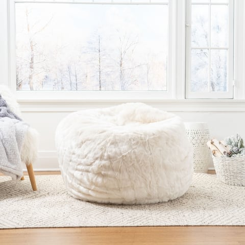 Lowery Modern Faux Fur Bean Bag Cover Replacement Cover by Christopher Knight Home