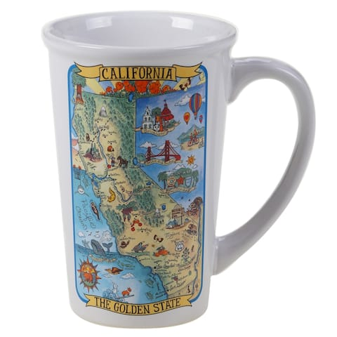 Certified International California Souvenir Jumbo Mugs (Set of 6)