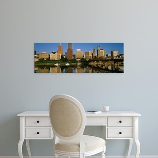 Easy Art Prints Panoramic Images's 'Buildings at the waterfront, Portland, Oregon, USA' Premium Canvas Art