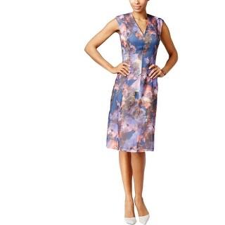 Anne Klein Womens Casual Dress Floral Print A-Line