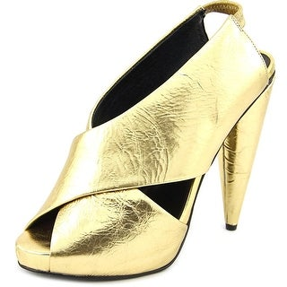 Jeffrey Campbell Chandra Women Peep-Toe Patent Leather Heels