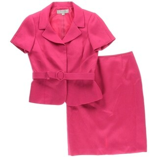 Tahari ASL Womens Richard Skirt Suit Textured 2PC