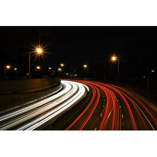 Highway Traffic Photograph Wall Art Canvas