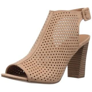 Madden Girl Women's Beckie-c Dress Sandal, Camel Fabric - camel fabric