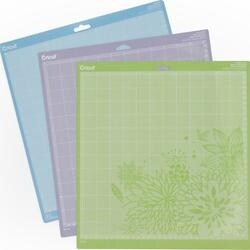 "Green; Blue & Purple - Cricut Adhesive Back Cutting Mats 12""X12"" 3/Pkg"
