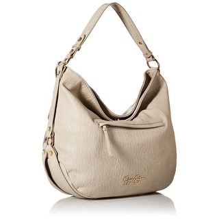 Jessica Simpson Womens Kendall Faux Leather Lined Hobo Handbag - Large