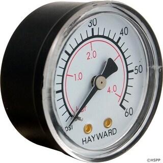 """Pressure Gauge, Hayward, 1/4""""mpt, 0-60psi, Back Mount"""