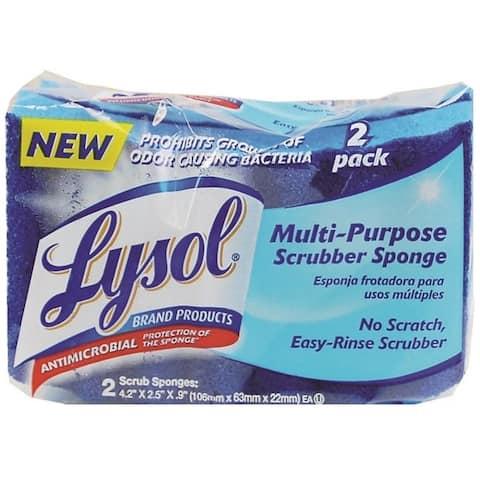 Quickie 2052221 Lysol Scrub Sponge, Blue