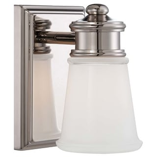 "Minka Lavery 4531-613 1 Light 7.5"" Height Bathroom Sconce with Clear / Etched White Shade"