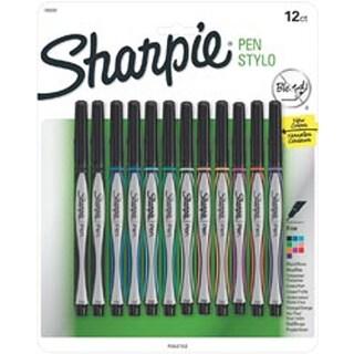 Sharpie Sanford Pen Stylo Fine 12 Colored Smudge Resistant Pens